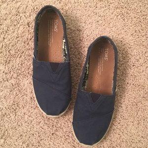 Navy blue Toms